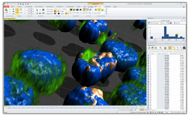 3D Image Analysis Software IMAGE-PRO PREMIER 3D