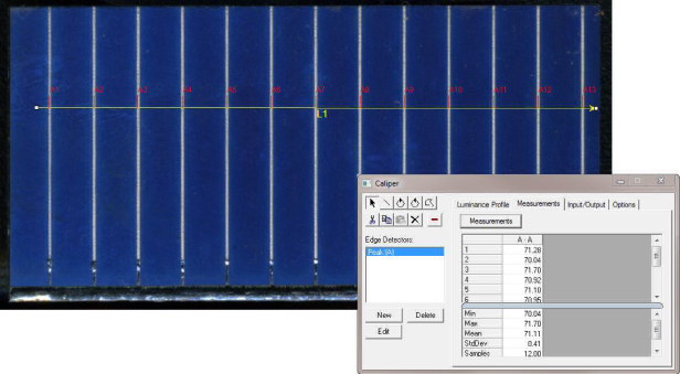Image-Pro Plus 2D Image Analysis Software Solar Caliper