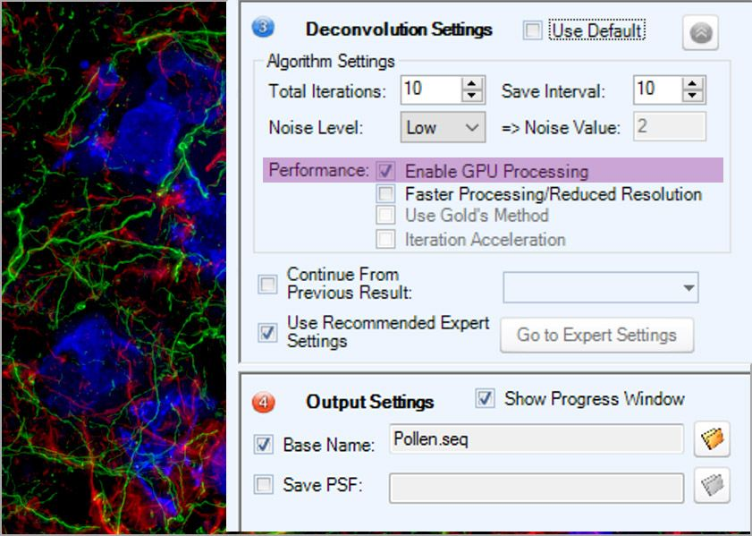 AutoQuant X3 Deconvolution Software Easy Implementation GPU