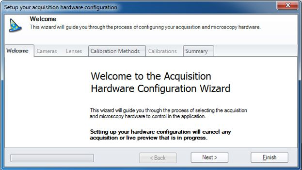 Acquisition Hardware Configuration Wizard