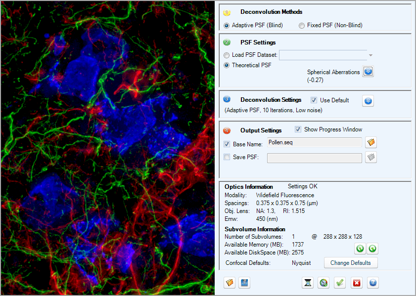 AutoQuant X3 Deconvolution Software Easy to Use Interface High Resolution